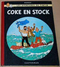 TINTIN - 19 - / Coke en stock / EO B24 1958/ BE+