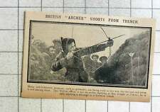 1915 British Officer Using Bow And Arrow To Deliver A Message To German Trench
