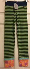 NWT Matilda Jane girls size 12 Hudson green & blue Ribbed Leggings