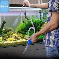 Batería de grava de acuario peces tanque de vacío limpiador de Sifón Bomba De Agua
