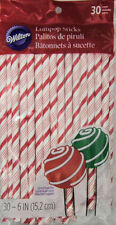 Candy Cane Christmas Colored Lollipop Sticks 30 ct from Wilton #6003 - NEW