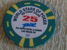 RIO ALL-SUITE CASINO WORLD STARS OF POKER 25 NCV hotel casino gaming poker chip