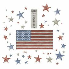 LAND OF THE FREE Wall Decals Flag USA Room Decor Stickers God Bless America Stal