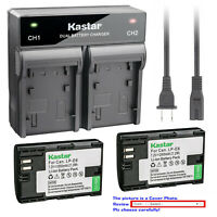 Kastar Battery Dual Rapid Charger for Canon LP-E6 LP-E6N LC-E6 & EOS 6D Mark II