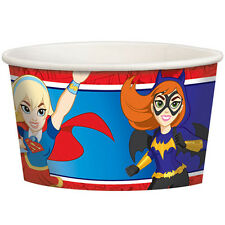 DC SUPER HERO GIRLS ICE CREAM CUPS (8) ~ Birthday Party Supplies Dessert Treat