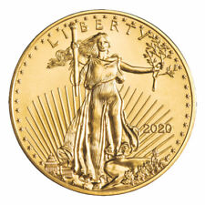 GOLD EAGLE 1/10 oz $5 - BU 2021 Free 1 Day Shipping