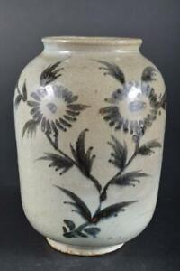 #39: XF Korean Lý Dynasty Blue&White Flower Muffle painting FLOWER VASE Ikebana
