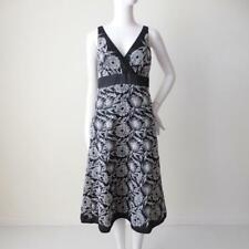 MONSOON rrp $275 Size 8 US 4 EUR 36 Black and White Sleeveless Embroidered Dress