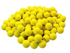 100 pcs Round Refill Replace Bullet Balls Toy Nerf Rival Apollo Zeus Gun Yellow