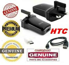 GENUINE ORIGINAL HTC MAINS CHARGER ADAPTER & USB DATA CABLE FOR ALL HTC MOBILES
