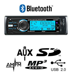 New Car Audio Media Player Bluetooth USB AM FM/AUX Mp3 4 x 50Watt Radio Unit