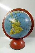 EARLY PRESSED TIN METAL WORLD GLOBE  EASTERN WRITING