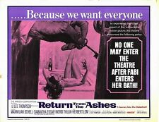 RETURN FROM THE ASHES half sheet movie poster 22x28 MAXIMILIAN SCHELL