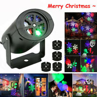 Christmas LED Moving Snowflake Light Laser Projector Lamp Outdoor Indoor Decor