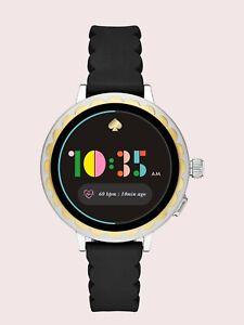 ☆KATE SPADE Scallop Smartwatch 2 Black Silicon RRP £299