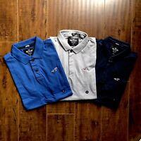 Hollister men's short sleeve Stretch Shrunken Collar Slim Fit Polo logo