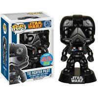 "NYCC EXCLUSIVE STAR WARS TIE FIGHTER PILOT CHROME 3.75"" VINYL POP FIGURE FUNKO"