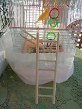 Wooden ladder for Birds, Hamsters &other small animals 7 Rung 32×8.5cm(12×3.5in)