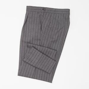WILVORST Stresemannhose zum Cut Schwarz Grau Gestreift Schurwolle Comfort Fit