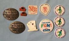 Vintage Casino Memorabilia Buckles, Pins And Magnets