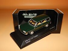 VW 411 LE  Variant 1969 in Tiefseegrün 400051110  Minichamps Scale 1/43 O V P