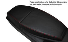 RED STITCHING LEATHER ARMREST SKIN COVER FITS BMW 6 SERIES E63 E64 04-11