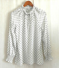 Time and Tru Tunic Polka Dot Pull Over Long/Raglan Sleeve Relaxed Size M(8-10)