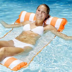 Inflatable Floating Hammock Lounge Bed Beach Swimming Pool Raft Water Cahir