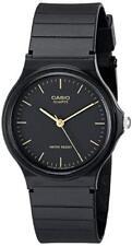Clásico Para hombres Casio Negro Correa de resina 35mm Reloj MQ24-1E