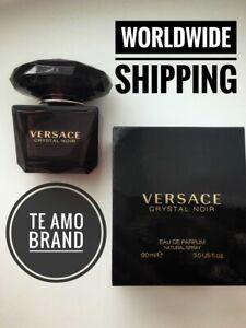 Versace Crystal Noir Eau De Parfum EDP 3.0 oz   90 ml Men Italy NEW IN BOX!!!