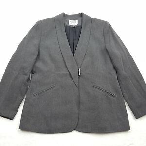 Kasper ASL Petite Size 12P Blazer Suit Jacket, Textured Gray
