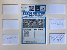 Leeds United-Hand Signed Autografi Clarke/reaney/Lorimer/JONES/HUNTER/Grigio