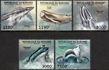 Whales (Pygmy / Sperm / Fin / Blue / Beluga) Marine Life Stamp Set/2012 Burundi