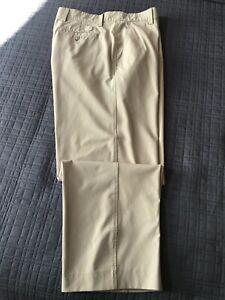 FootJoy FJ Golf Men's Performance Cream Flat Front Pants Size 36 x 28