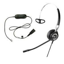 Jabra BiZ 2400 Monaural Noise Canceling QD Headset with GN1200 Coiled SmartCord