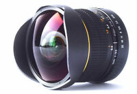 JINTU 8mm F/3.5 Ultra Wide Angle Fisheye Lens for Nikon Camera D3400 D3200 D5300