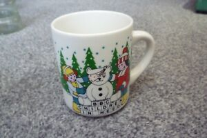 Vintage BBC Children In Need Christmas Charity Mug White Pudsey Bear