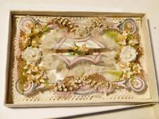 Superb Gorgeous Antique 1876 Silk Paper Lace All Original Sweetheart Card #3