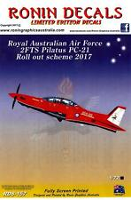 Ronin Decals 1/72 PILATUS PC-21 Australian Air Force 2017 Roll Out