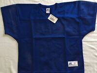 New Royal Blue Russell Athletic Youth Practice Mesh Football Jersey VNeck Medium