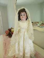 "17"" Shoulderhead A.M. Child Doll In Beautiful Bridal Attire!"