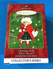 "Hallmark ""Christmas Holly"" Ice Skating Madame Alexander Ornament 2000"