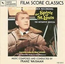 """Franz Waxman """"THE SPIRIT OF ST. LOUIS"""" score RARE NEW CD"""
