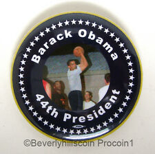 OBAMA President Basketball Photo Election Button photo