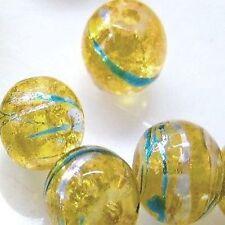 50 un. 6mm drawbench Perlas De Vidrio-Color Amarillo Dorado-a3230-b