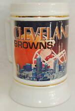 CLEVELAND BROWNS Official NFL Licensed # 107 Large Ceramic Mug Gold Trim