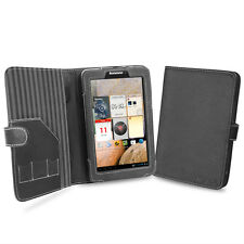 """Cover-Up Lenovo IdeaTab A2107 7"""" Tablet Black Book Style PU Leather Cover Case"""