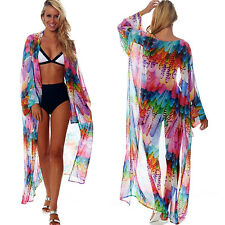 fa99b6cfdd Womens Sexy Summer Bikini Cover Up Beach Wear Swimwear Sarongs Long Kaftan  Dress
