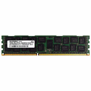 Elpida EBJ17RG4EBWA-DJ-F 16GB DDR3 10600R 1333Mhz 1.35v 2rx4 Server Memory Ram
