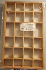 "Vintage Ikea Wooden Multi Compartment Box  BOALT 19.5"" x 11.75"" x 2"""